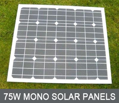 75 watt mono Solar Panel