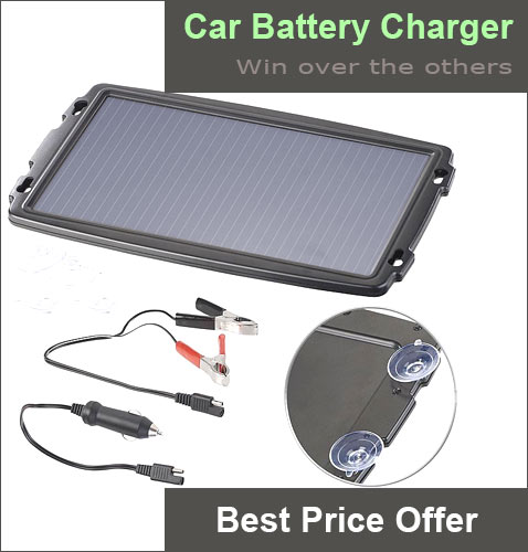 ECOWORTHY 12V 5W Portable Solar Panel Power for Car Battery Charger with Back Suction Cup for Motorcycles Car Boat